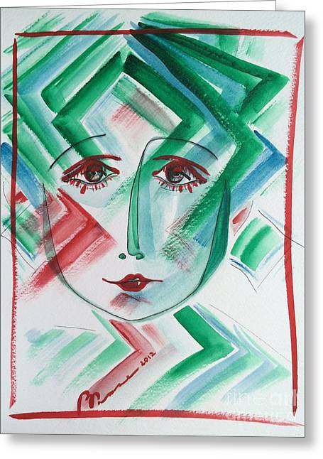 Pensive Greeting Cards - Le Fait De Rendre  Greeting Card by Barbara Chase