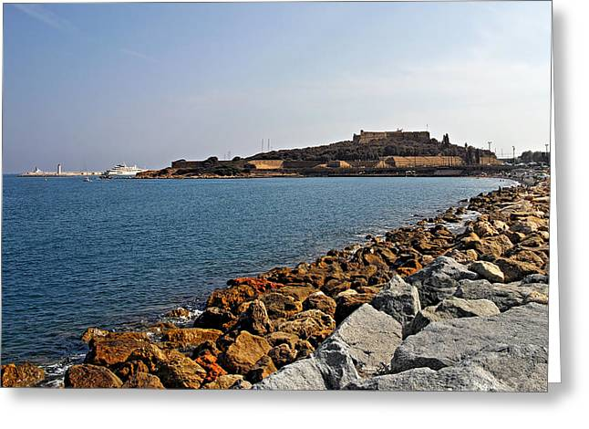Bastion Greeting Cards - Le Fort Carre - Antibes - France Greeting Card by Christine Till