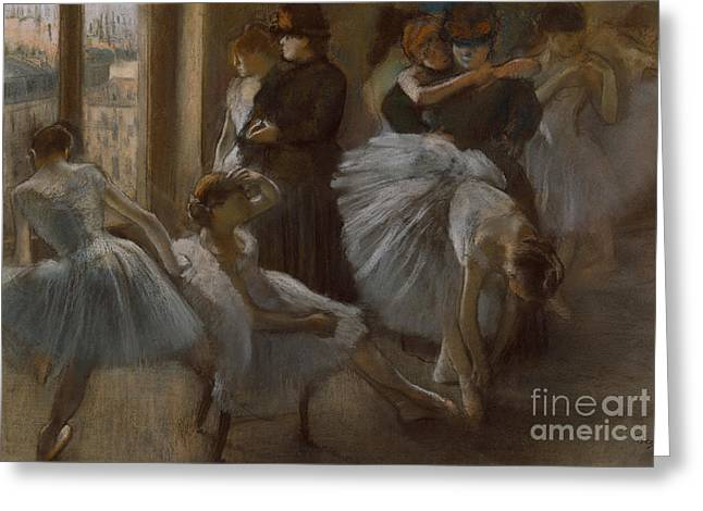 Le Foyer de l'Opera Greeting Card by Edgar Degas
