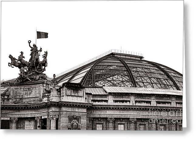 Historic Site Greeting Cards - Le Grand Palais Greeting Card by Olivier Le Queinec