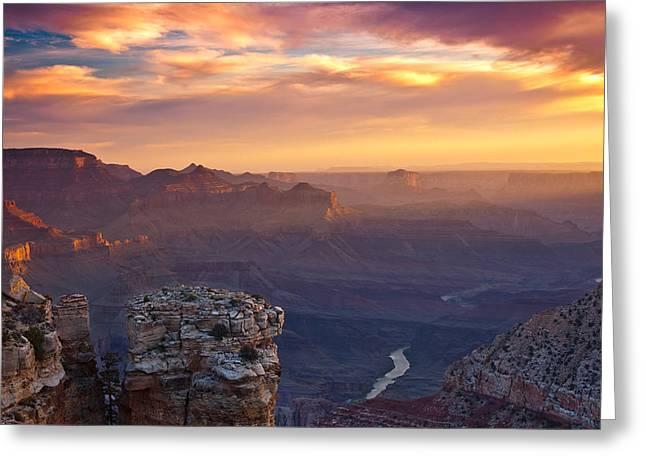 Arizona Prints Greeting Cards - Le Grand Sunrise Greeting Card by Darren  White