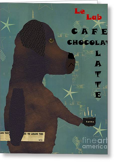 Canine Posters Greeting Cards - Le Lab Chocolat Greeting Card by Bri Buckley