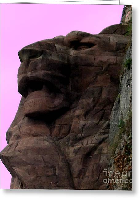 Nanas Art Greeting Cards - le Lion de Bartholdi Greeting Card by Marianne NANA Betts