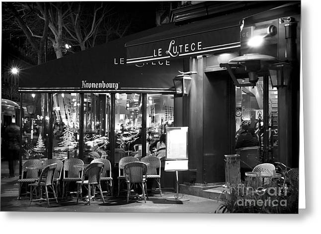 Paris At Night Greeting Cards - Le Lutece Greeting Card by John Rizzuto