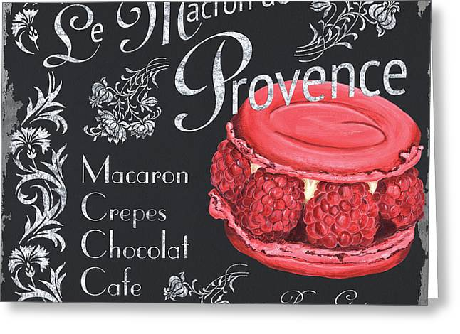 Creative Paintings Greeting Cards - Le Macron de Provence Greeting Card by Debbie DeWitt
