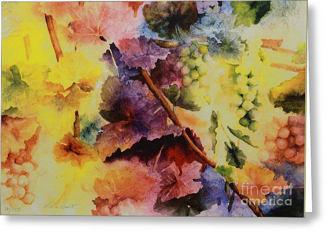 Grapevine Greeting Cards - Le Magie d Automne Greeting Card by Maria Hunt