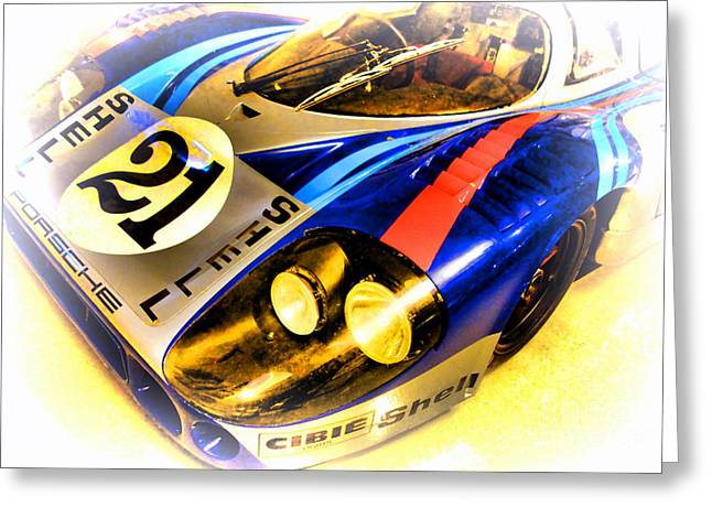 Twenty-four Greeting Cards - Le Mans 1971 Porsche 917 LH Greeting Card by Olivier Le Queinec