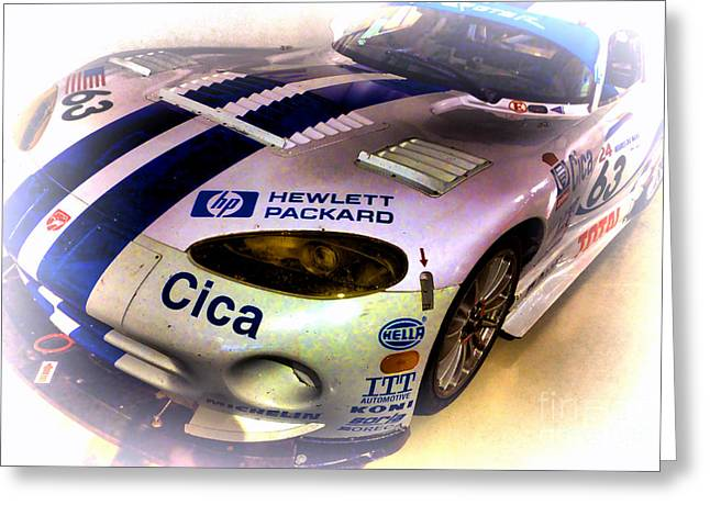 Endurance Greeting Cards - Le Mans 1997 Chrysler Viper GTS  Greeting Card by Olivier Le Queinec