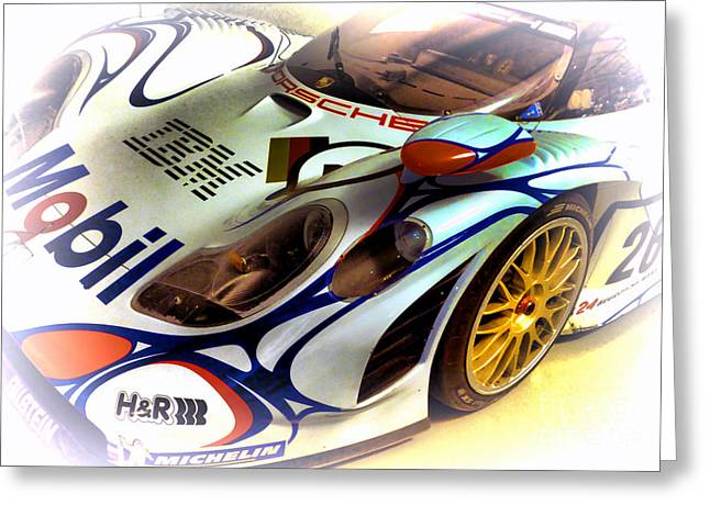 Man Greeting Cards - Le Mans 1998 Porsche 911 GT1 Greeting Card by Olivier Le Queinec