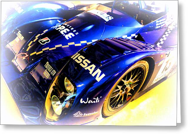 Courage Greeting Cards - Le Mans 1999 Courage Nissan C52 Greeting Card by Olivier Le Queinec