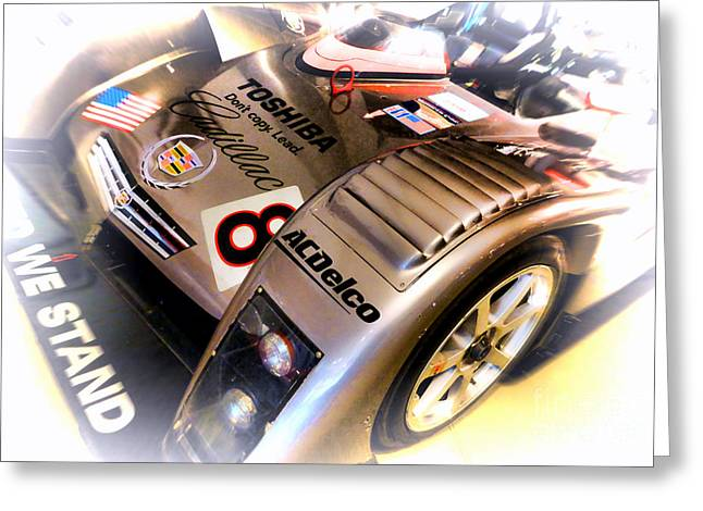 Endurance Greeting Cards - Le Mans 2001 Cadillac Northstar LMP 900 Greeting Card by Olivier Le Queinec