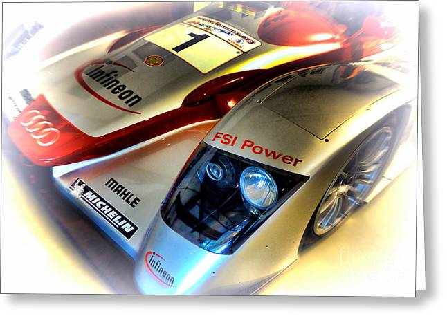 Twenty-four Greeting Cards - Le Mans 2002 Audi R8 FSI Greeting Card by Olivier Le Queinec