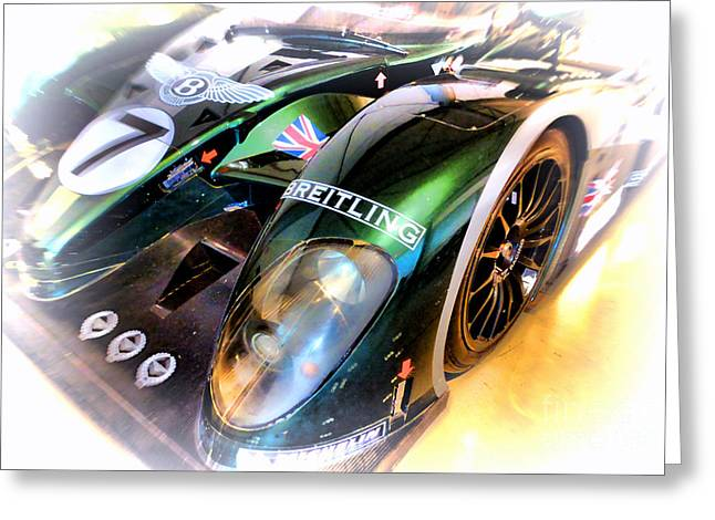 Twenty-four Greeting Cards - Le Mans 2003 Bentley Speed 8 Greeting Card by Olivier Le Queinec