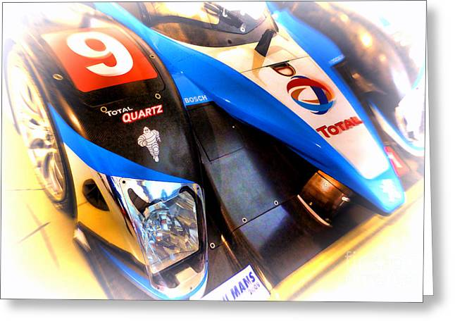 Courage Greeting Cards - Le Mans 2003 Peugeot Courage Pescarolo C60 Greeting Card by Olivier Le Queinec