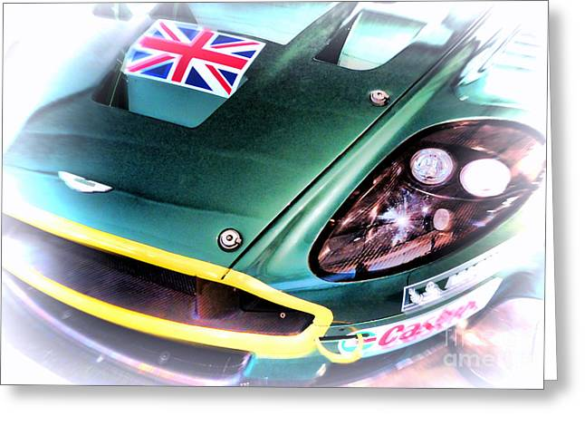 Twenty-four Greeting Cards - Le Mans 2005 Aston Martin DRB 9 GT Greeting Card by Olivier Le Queinec