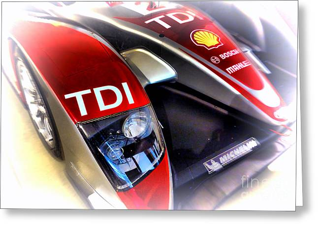 Endurance Greeting Cards - Le Mans 2008 Audi R10 TDI Greeting Card by Olivier Le Queinec