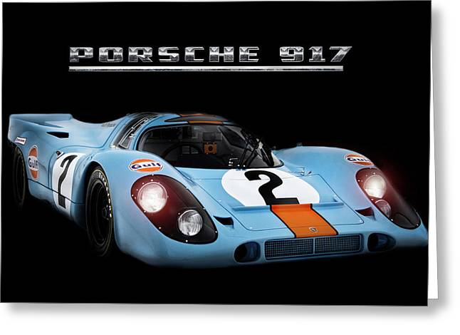 Le Mans King Greeting Card by Peter Chilelli