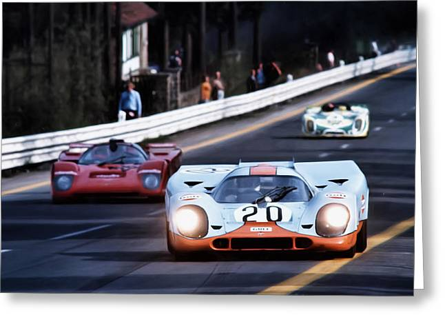 German Race Car Greeting Cards - Le Mans Legend Greeting Card by Peter Chilelli