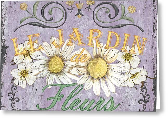Le Marche Aux Fleurs 5 Greeting Card by Debbie DeWitt