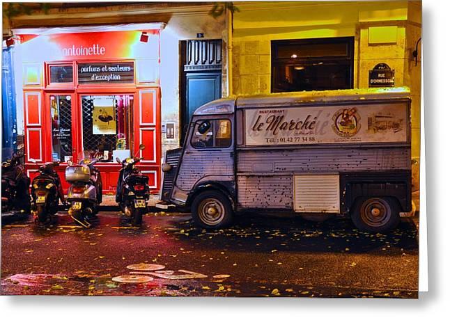Le Marche Van Greeting Card by Matt MacMillan