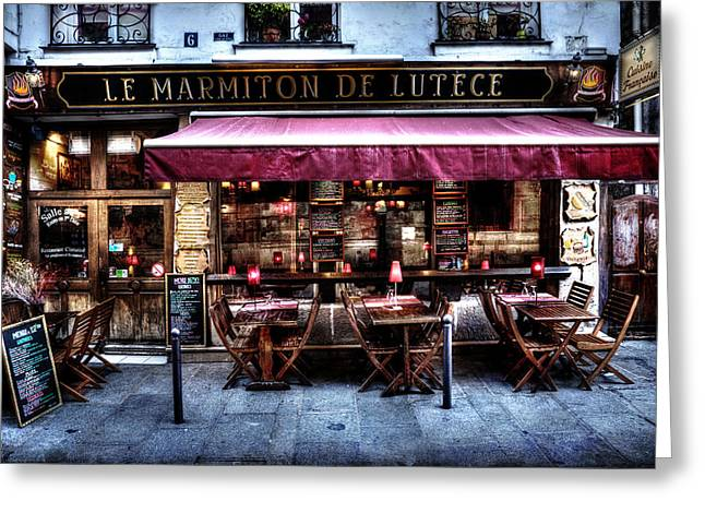 Pause Greeting Cards - Le Marmiton De Lutece Paris France Greeting Card by Evie Carrier