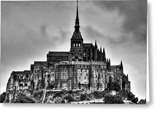 Commune Greeting Cards - Le Mont Saint Michel - France Greeting Card by Aidan Moran