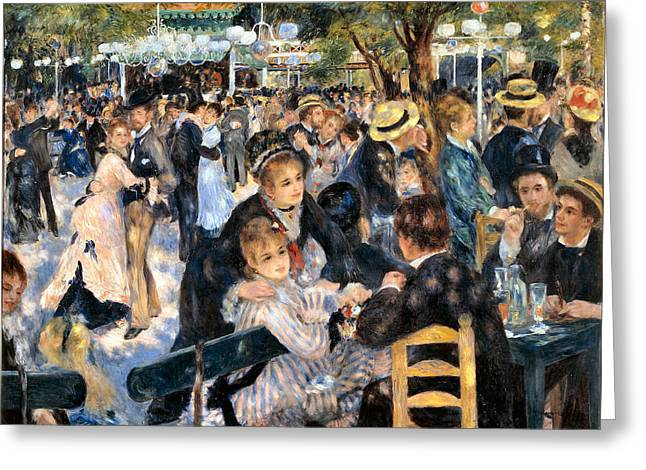 Renoir Greeting Cards - Le Moulin de la Galette Greeting Card by Pierre Auguste Renoir