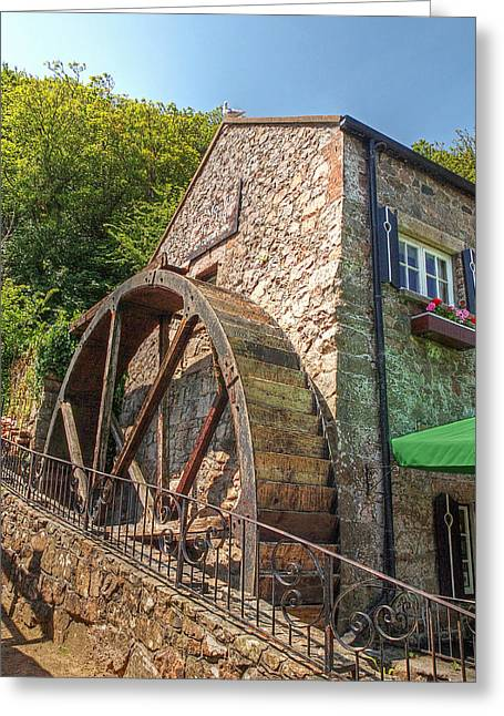 Water Powered Power Plants Greeting Cards - Le Moulin de Lecq Inn Greeting Card by Gill Billington
