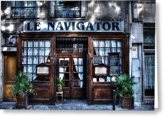 Pause Greeting Cards - Le Navigator Paris France Greeting Card by Evie Carrier