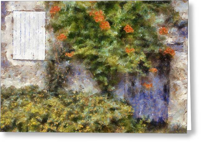 France Doors Digital Art Greeting Cards - Le Petit Maison Greeting Card by Nomad Art And  Design