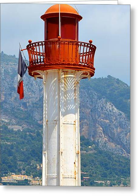 Menton Greeting Cards - Le Phare II Greeting Card by Corinne Rhode