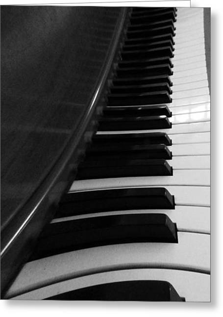 White Chopin Greeting Cards - Le Piano Saisit Greeting Card by Dan Sproul