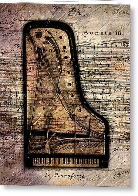 Piano Digital Art Greeting Cards - Le Pianoforte  Greeting Card by Gary Bodnar