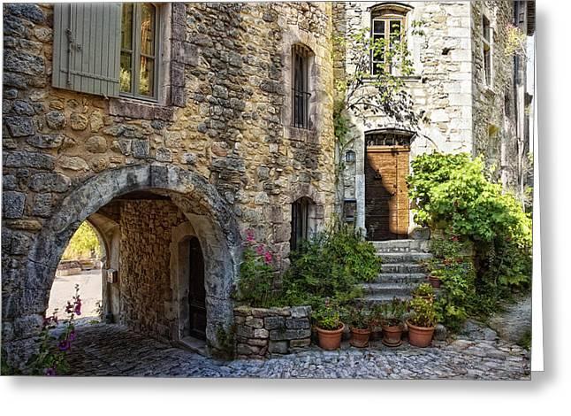 Provence Village Greeting Cards - Le Plus Belle Village Greeting Card by Joachim G Pinkawa