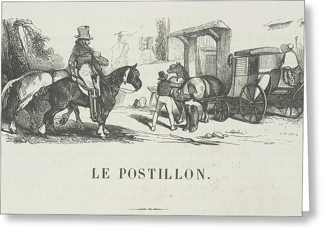Le Postillon Greeting Card by British Library