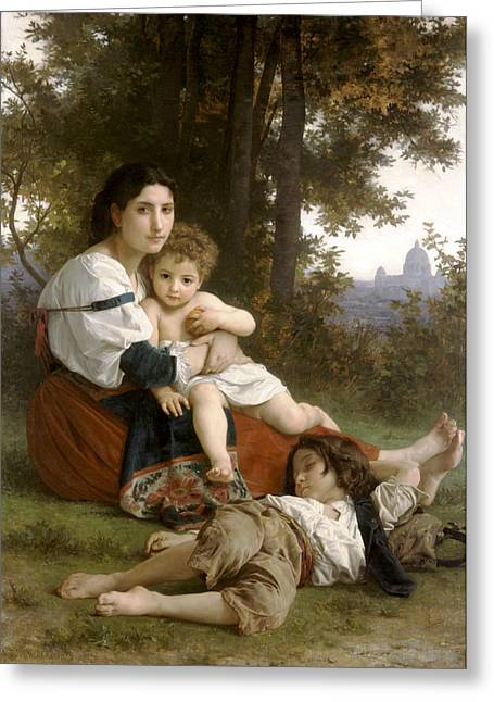Old Masters Greeting Cards - Le Repos The Rest Greeting Card by William Bouguereau