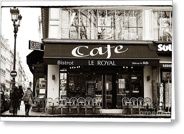 European Restaurant Greeting Cards - Le Royal Greeting Card by John Rizzuto