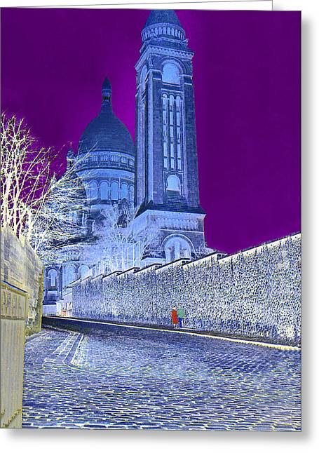 Colorful Photos Greeting Cards - Le Sacre Coeur Greeting Card by Chuck Staley