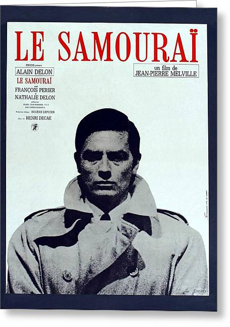 1960s Movies Greeting Cards - Le Samourai - 1967 Greeting Card by Nomad Art And  Design
