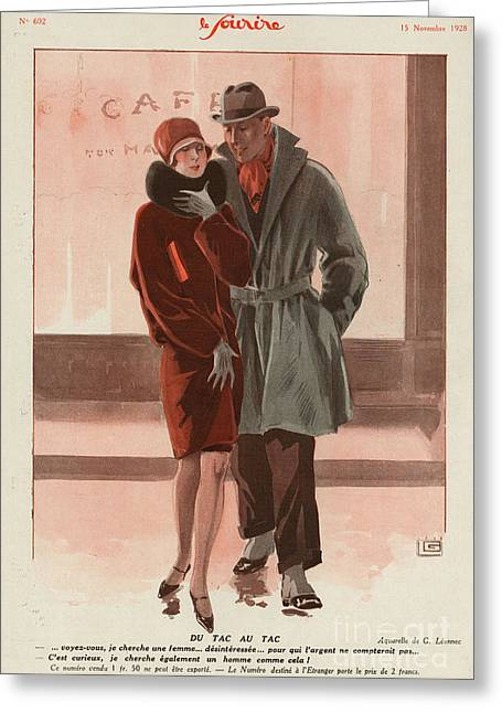 WomenÕs Drawings Greeting Cards - Le Sourire 1928 1920s France Womens Greeting Card by The Advertising Archives