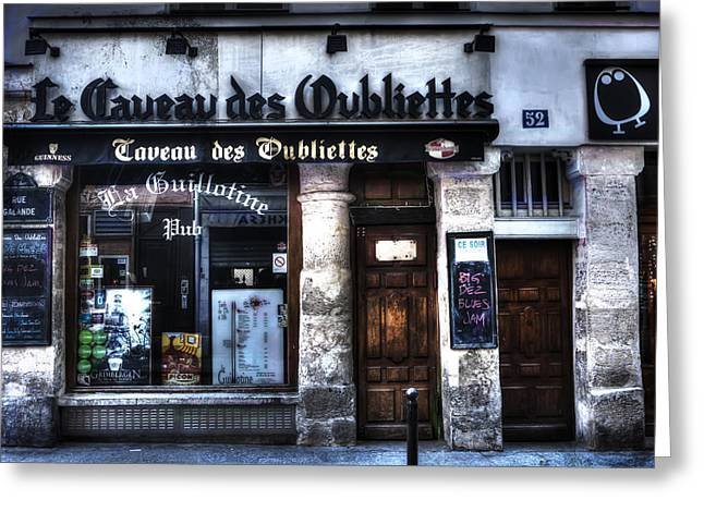 Pause Greeting Cards - Le Taveau des Oubliettes Paris France Greeting Card by Evie Carrier