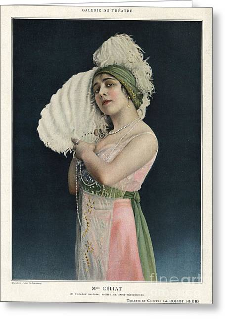 Nineteen-tens Greeting Cards - Le Theatre 1912 1910s France Mlle Greeting Card by The Advertising Archives