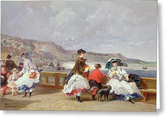 155 Greeting Cards - Le Treport, 1867 Oil On Canvas Greeting Card by Jules Achille Noel