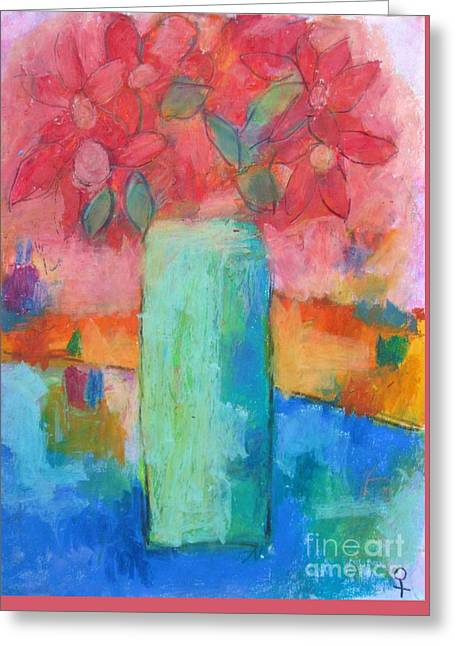 21st Pastels Greeting Cards - Le Vase Jardin Greeting Card by Venus