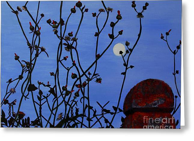 Linda Queally Greeting Cards - Le Vieux Poteau Rouge Greeting Card by Linda Queally