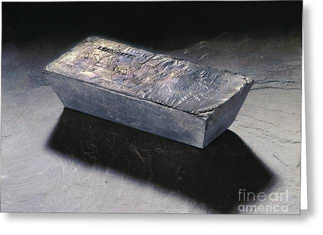Lead Greeting Cards - Lead Ingot Greeting Card by Erich Schrempp