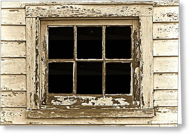 Clapboard House Greeting Cards - This Old Window Greeting Card by John Stephens