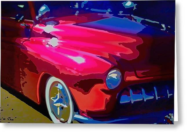 Hot Pink Custom Greeting Cards - Lead Sled Greeting Card by Michael Pickett