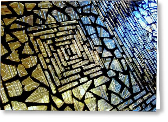 Lead Greeting Cards - Leaded Glass Greeting Card by Donna Blackhall