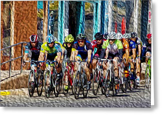 Tour Of The Gila Greeting Cards - Leader of the Pack Greeting Card by Vicki Pelham